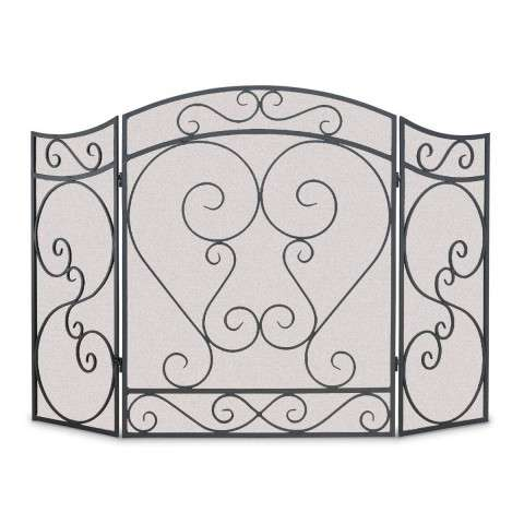 Napa Country Scroll 3 Panel Folding Screen - Black
