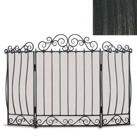 Napa Villa 3 Panel Folding Screen - Brushed Pewter