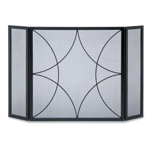 Napa Forged Diamond Tri Panel Screen - Black