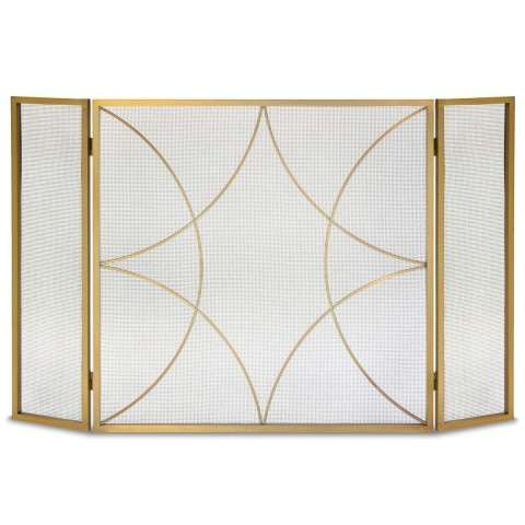 Napa Forged Diamond Tri Panel Screen - Burnished Brass