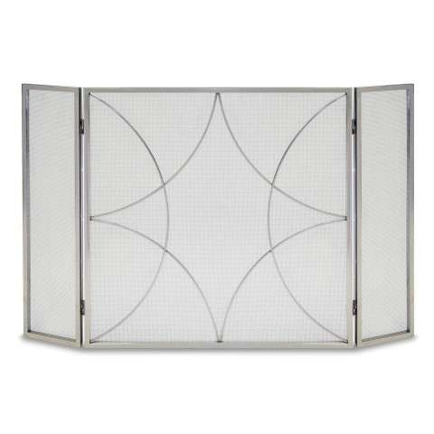 Napa Forged Diamond Tri Panel Screen - Polished Nickel