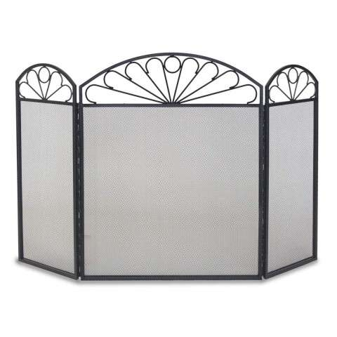 Napa Colonial 3 Panel Folding Screen - Black