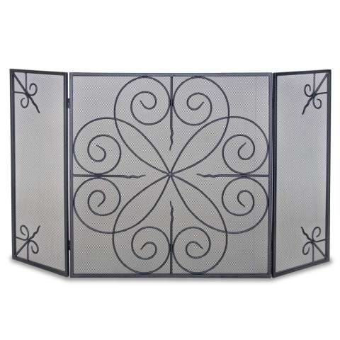 Napa Elements 3 Panel Folding Screen - Black