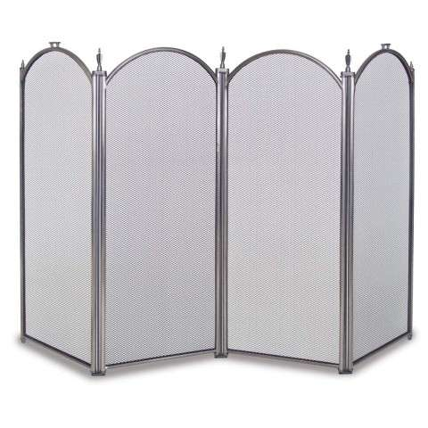 Napa Mendocino 4 Panel Folding Screen - Pewter