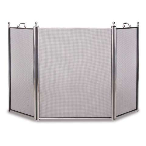 Napa Tiburon 3 Panel Folding Screen - Satin Nickel