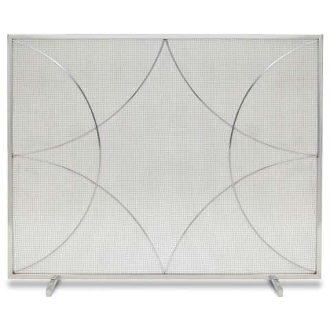 Napa Forged Diamond Single Panel Screen - Polished Nickel