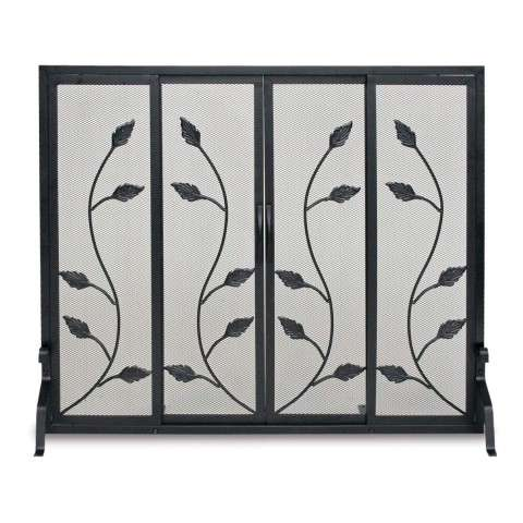Napa Garden Vine Sliding Door Screen - Black