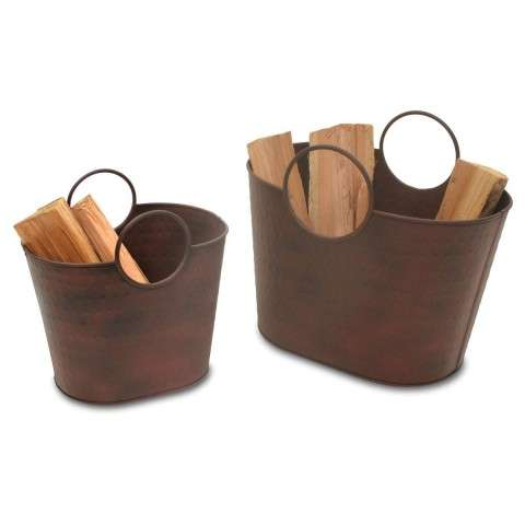 Napa Kendell Wood Holder 2/pk - Weathered Umber