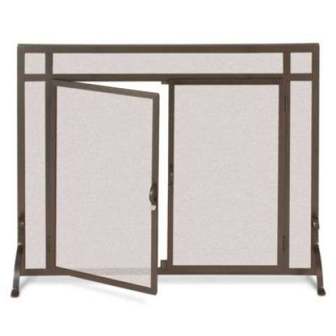 Pilgrim 18431 Fireplace Screen - Burnished Bronze