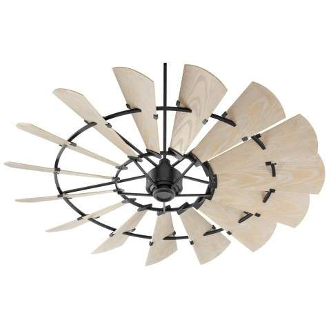 Quorum 72 Inch Windmill Ceiling Fan Model 197215-69 in Noir Black