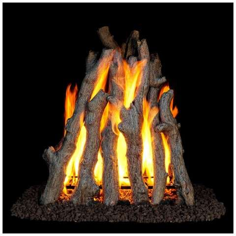 RUA Rural Aged Oak Rumford Gas Logs