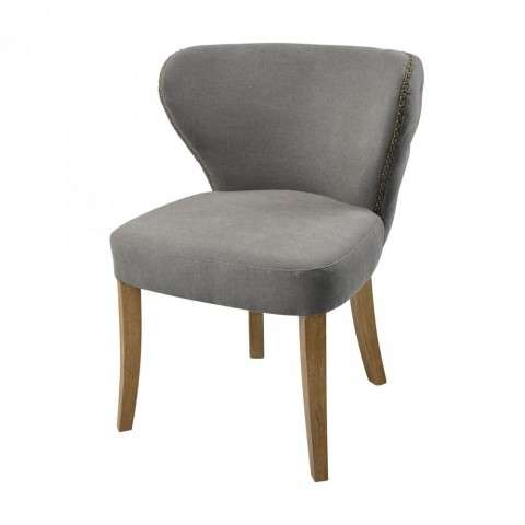Dorian Chair in Grey Linen w/Reclaimed Oak