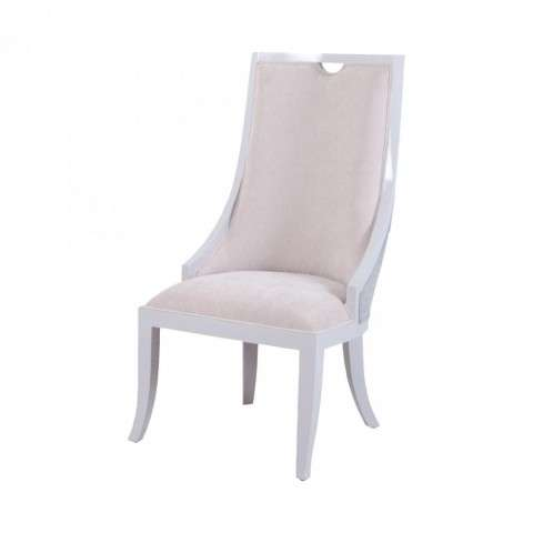 Viola Dining Chair In White And Grey in White w/Grey