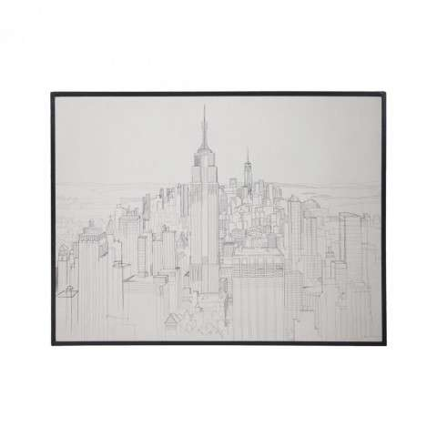 Tower Bridge in Handpainted Clear White w/Signature Black