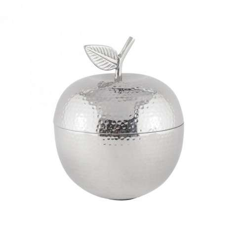 Pippin Decorative Apple Container in Nickel
