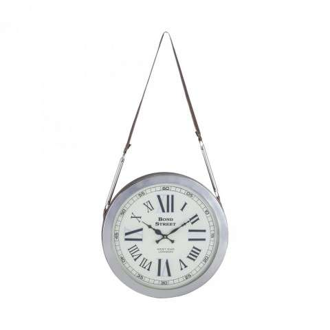 Bond Street Wall Clock in Polished Nickel