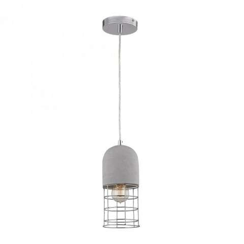 Wardenclyffe Pendant Lamp in Polished Concrete w/Polished Nickel