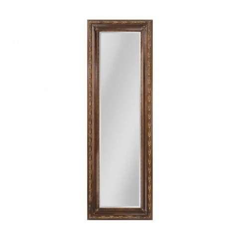 Glenroy Beveled Mirror With Wood Frame In Medium Bronze