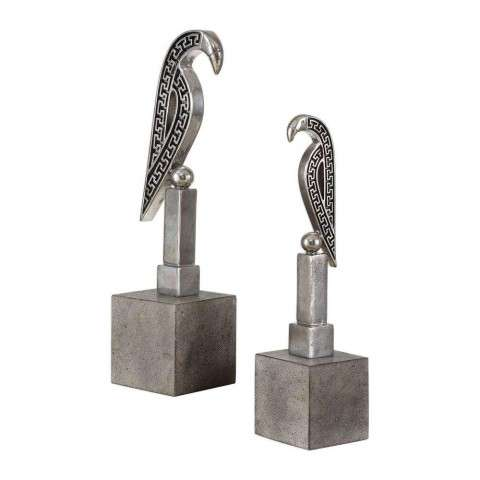 Navya Silver Bird Sculptures S/2