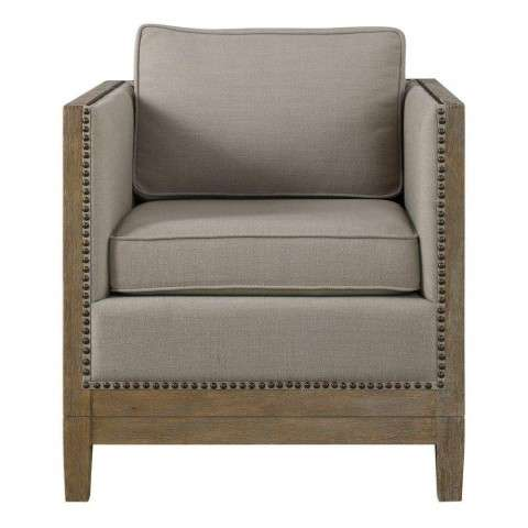 Kyle Weathered Oak Accent Chair