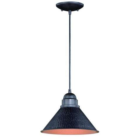 "Outland 10"" Outdoor Pendant Light Aged Iron"