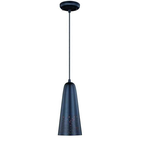 "Ephraim Outdoor 5"" Pendant Light Textured Black"