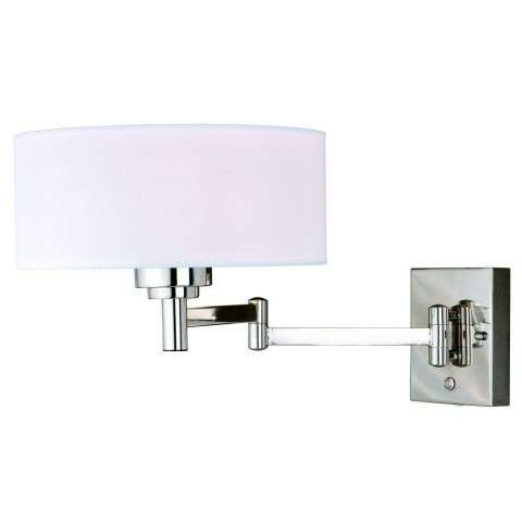 Chapeau Slim Instalux Swing Arm Wall Light Polished Nickel
