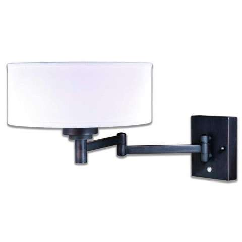 Chapeau Slim Instalux Swing Arm Wall Light Noble Bronze
