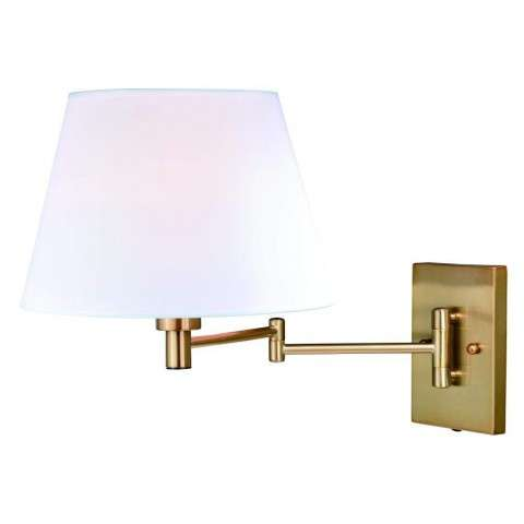 Chapeau Instalux Swing Arm Wall Light Natural Brass