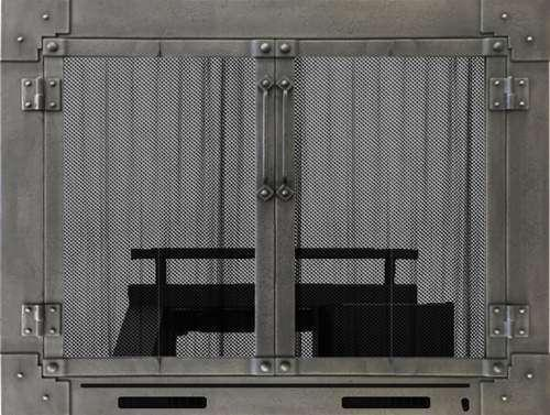 Armada Fireplace Door with Heater Grate