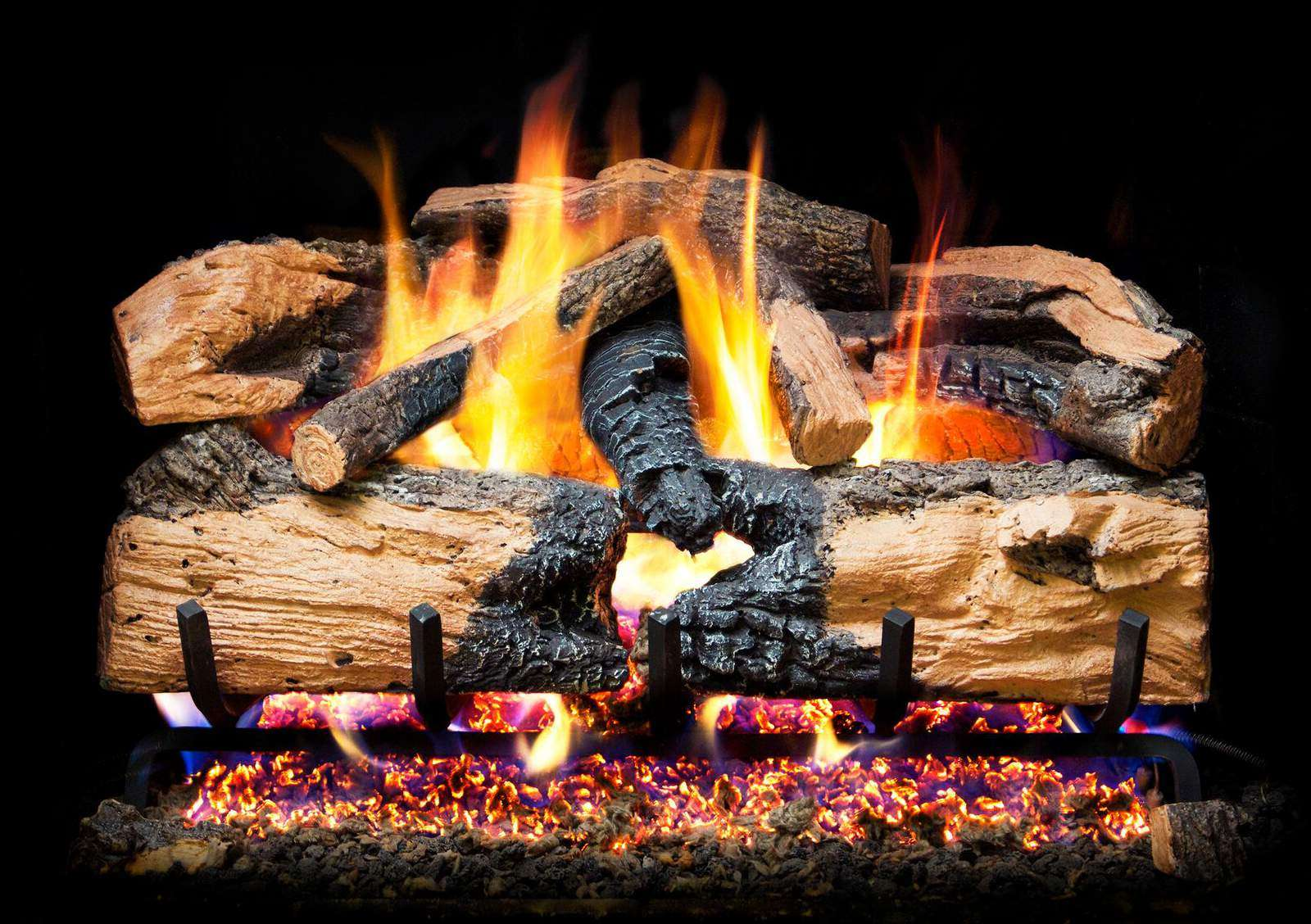Picture of The Best Gas Logs - Peterson ENS-24 Charred Oak Gas Logs
